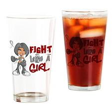 Fight Like a Girl 42.8 Parkinson's Drinking Glass