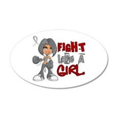 Fight Like a Girl 42.8 Parkinson's Wall Decal