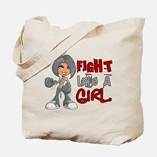 Fight Like a Girl 42.8 Parkinson's Tote Bag