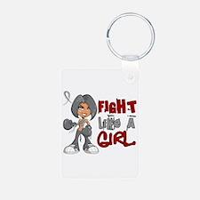 Fight Like a Girl 42.8 Parkinson's Keychains