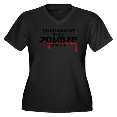 Pharmacist Zombie Women's Plus Size V-Neck Dark T-