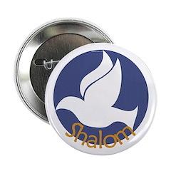 Shalom Dove Button