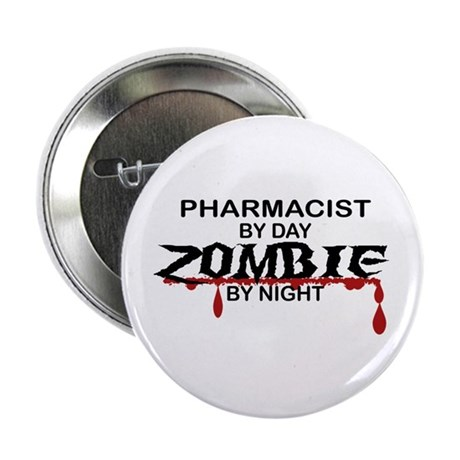 "Pharmacist Zombie 2.25"" Button (10 pack)"