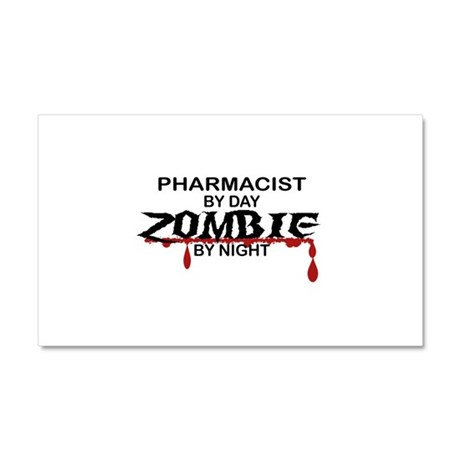 Pharmacist Zombie Car Magnet 20 x 12
