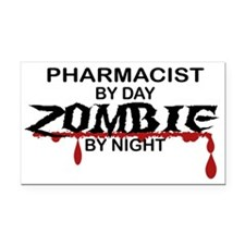 Pharmacist Zombie Rectangle Car Magnet