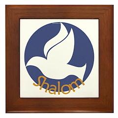 Shalom Dove Framed Tile