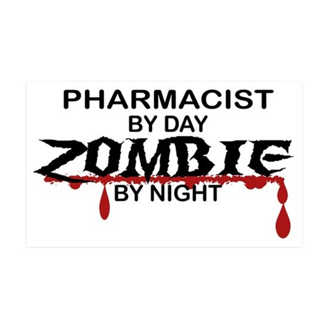 Pharmacist Zombie 35x21 Wall Decal