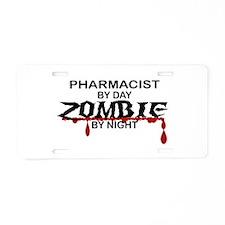 Pharmacist Zombie Aluminum License Plate