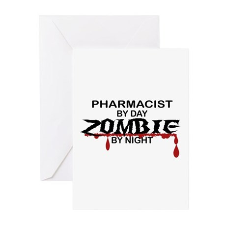 Pharmacist Zombie Greeting Cards (Pk of 10)