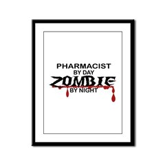 Pharmacist Zombie Framed Panel Print