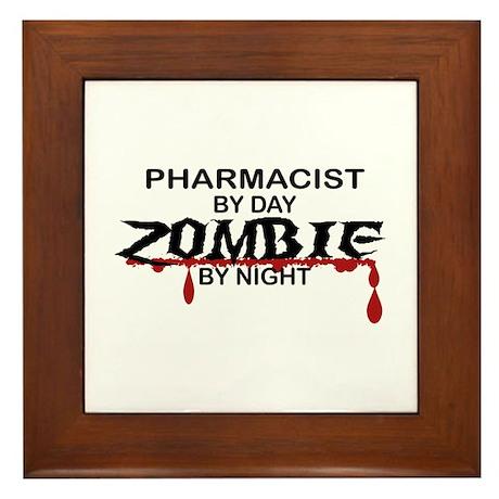 Pharmacist Zombie Framed Tile