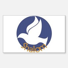 Shalom Dove Rectangle Decal