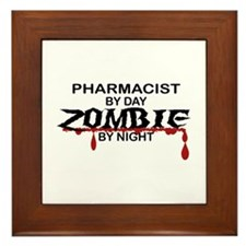 Pharmacist Zombie Framed Tile