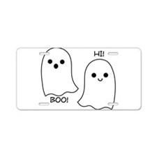 boo! hi! ghosts Aluminum License Plate