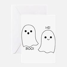 boo! hi! ghosts Greeting Card