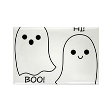 boo! hi! ghosts Rectangle Magnet (100 pack)