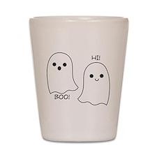 boo! hi! ghosts Shot Glass
