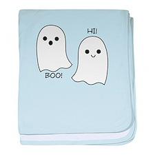 boo! hi! ghosts baby blanket
