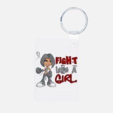 Fight Like a Girl 42.8 Juv Diabetes Keychains