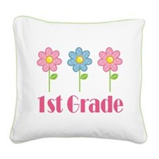 1st Grade (Daisy) Square Canvas Pillow