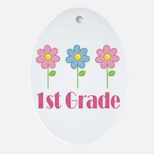 1st Grade (Daisy) Ornament (Oval)