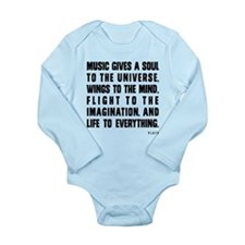 Music Gives A Soul To The Universe Long Sleeve Inf