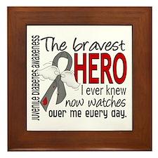 Bravest Hero I Knew J Diabetes Framed Tile
