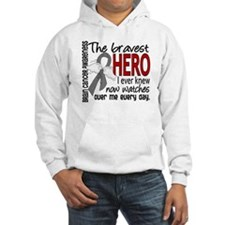 Bravest Hero I Knew Brain Cancer Jumper Hoody