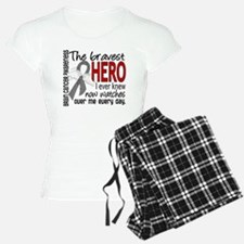 Bravest Hero I Knew Brain Cancer Pajamas