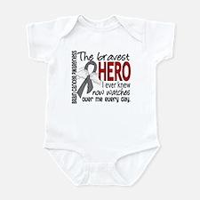 Bravest Hero I Knew Brain Cancer Infant Bodysuit