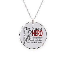 Bravest Hero I Knew Brain Cancer Necklace