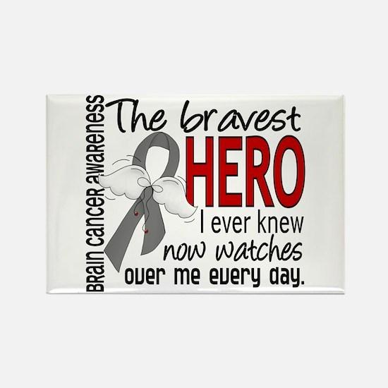 Bravest Hero I Knew Brain Cancer Rectangle Magnet