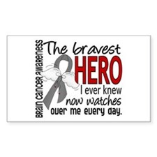 Bravest Hero I Knew Brain Cancer Decal