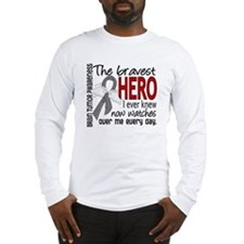 Bravest Hero I Knew Brain Tumor Long Sleeve T-Shir
