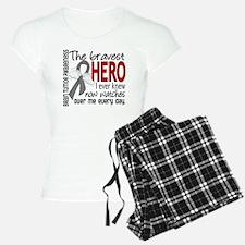 Bravest Hero I Knew Brain Tumor Pajamas