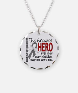 Bravest Hero I Knew Brain Tumor Necklace
