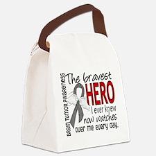 Bravest Hero I Knew Brain Tumor Canvas Lunch Bag