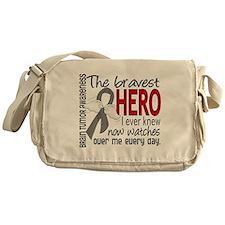 Bravest Hero I Knew Brain Tumor Messenger Bag