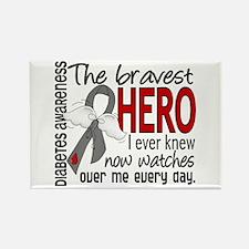 Bravest Hero I Knew Diabetes Rectangle Magnet