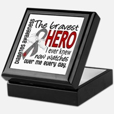 Bravest Hero I Knew Diabetes Keepsake Box