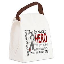 Bravest Hero I Knew Diabetes Canvas Lunch Bag