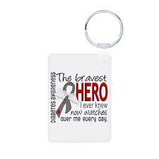 Bravest Hero I Knew Diabetes Keychains