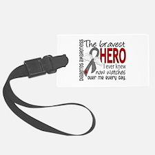 Bravest Hero I Knew Diabetes Luggage Tag