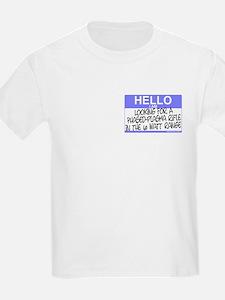 Plasma Rifle Small Hello Kids T-Shirt