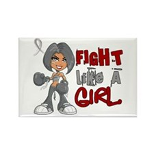 Fight Like a Girl 42.8 Diabetes Rectangle Magnet