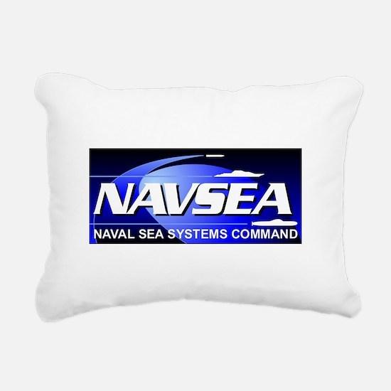 NAVSEA logo Rectangular Canvas Pillow