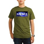 NAVSEA logo Organic Men's T-Shirt (dark)