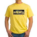 NAVSEA logo Yellow T-Shirt