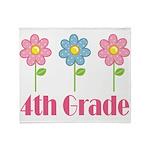 4th Grade (Daisies) Throw Blanket
