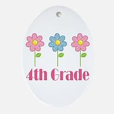4th Grade (Daisies) Ornament (Oval)